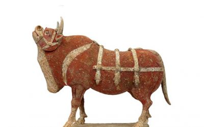 Large Outstanding Pottery Ox