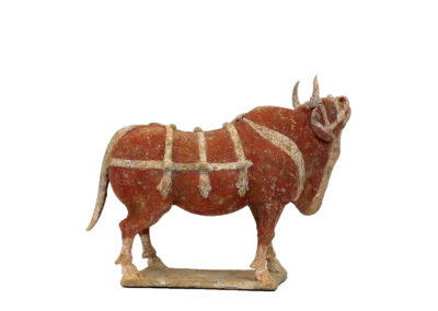 Large Outstanding Pottery Ox (9)