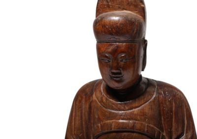 A Chinese Cypress Wood Dignitary (3)