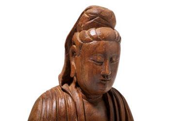 A Chinese Nanmu Guanyin Ming