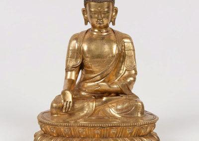 A Massive Gilt-Bronze Shakyamuni Buddha (1)