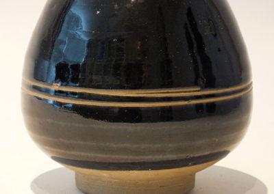 Brown-Glazed Pear Shaped Bottle Vase (10)