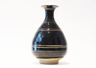 Brown-Glazed Pear Shaped Bottle Vase (2)