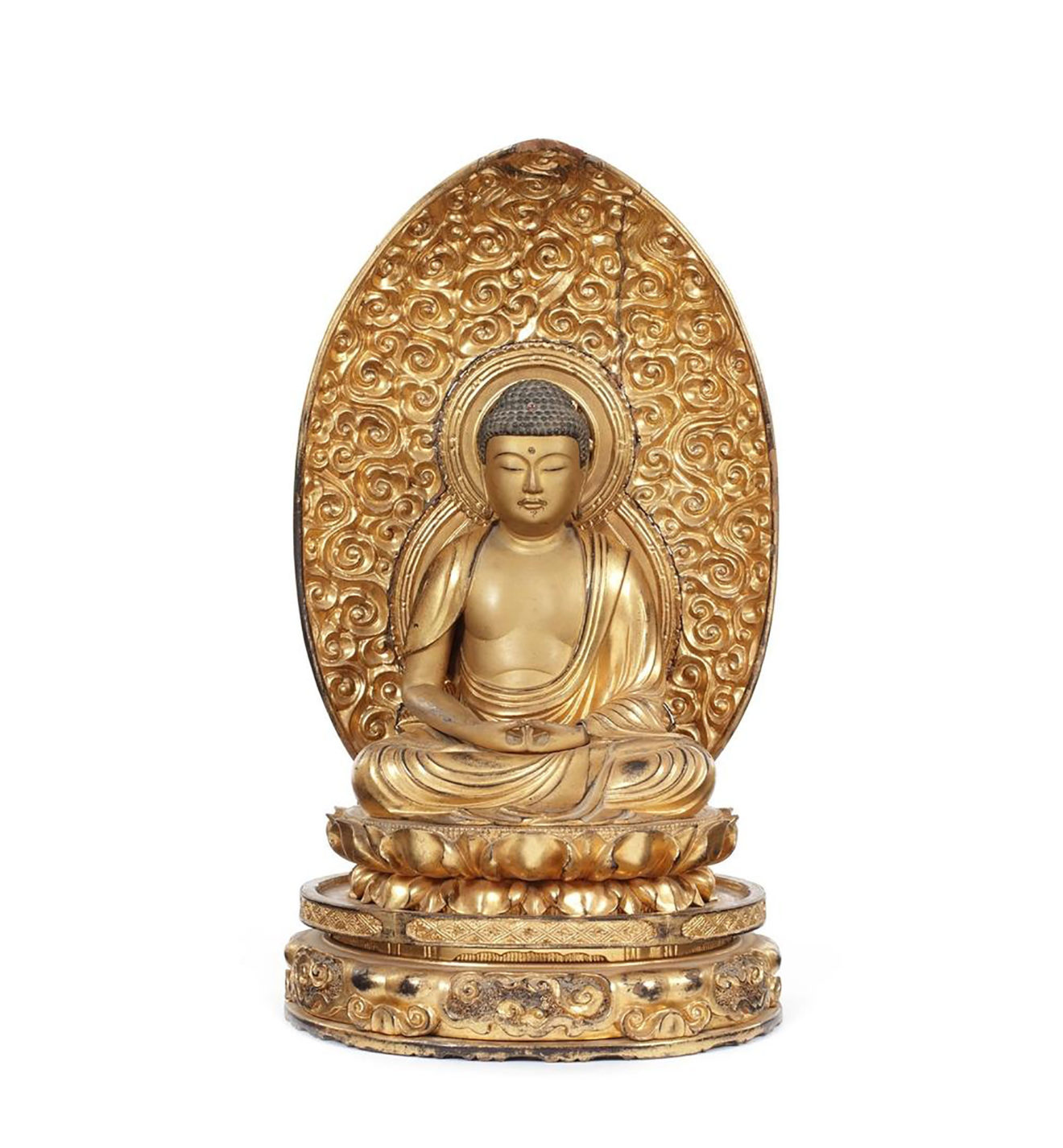 Gilt Carved Figure of Amida Nyorai (Amitabha) (1)