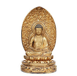 Gilt Carved Figure of Amida Nyorai (Amitabha)