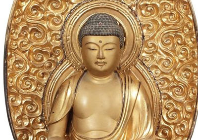 Gilt Carved Figure of Amida Nyorai (Amitabha) (2)