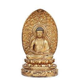 Gilt Carved Figure of Amida Nyorai (Amitabha)