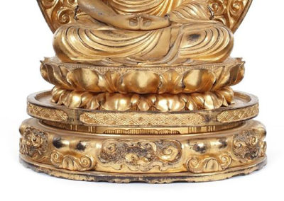 Gilt Carved Figure of Amida Nyorai (Amitabha) (3)