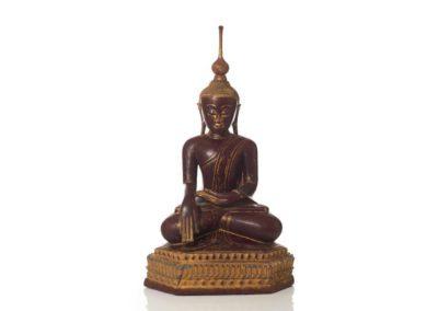 Large Burmese Gilt Lacquered Buddha (1)