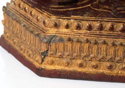 Large Burmese Gilt Lacquered Buddha (2)
