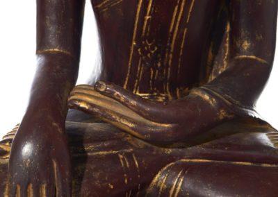 Large Burmese Gilt Lacquered Buddha (4)