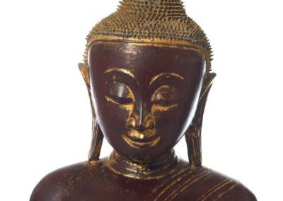Large Burmese Gilt Lacquered Buddha (5)