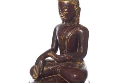 Large Burmese Gilt Lacquered Buddha (7)