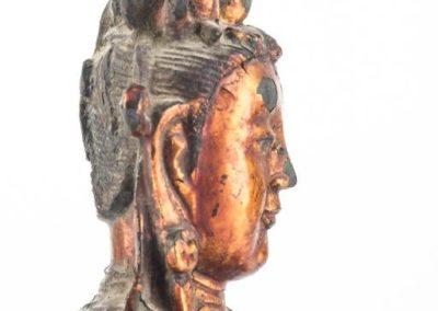 Large Gilt Bronze Figure of Xiwangmu (11)