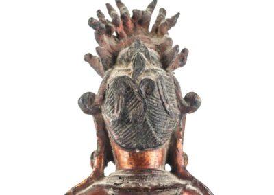 Large Gilt Bronze Figure of Xiwangmu (13)