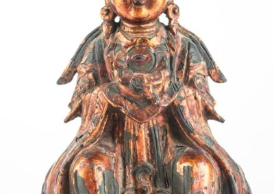 Large Gilt Bronze Figure of Xiwangmu (3)