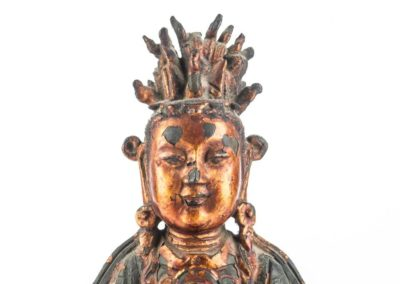 Large Gilt Bronze Figure of Xiwangmu (4)