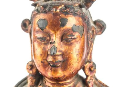 Large Gilt Bronze Figure of Xiwangmu (5)