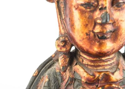 Large Gilt Bronze Figure of Xiwangmu (7)