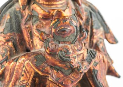 Large Gilt Bronze Figure of Xiwangmu (8)