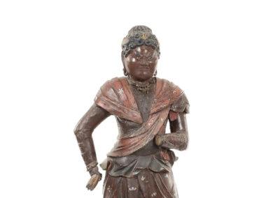 Rare Polychrome Wood Figure Taishakuten (2)
