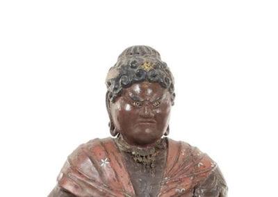 Rare Polychrome Wood Figure Taishakuten (3)