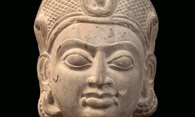 Buff Sandstone Head of a Goddess