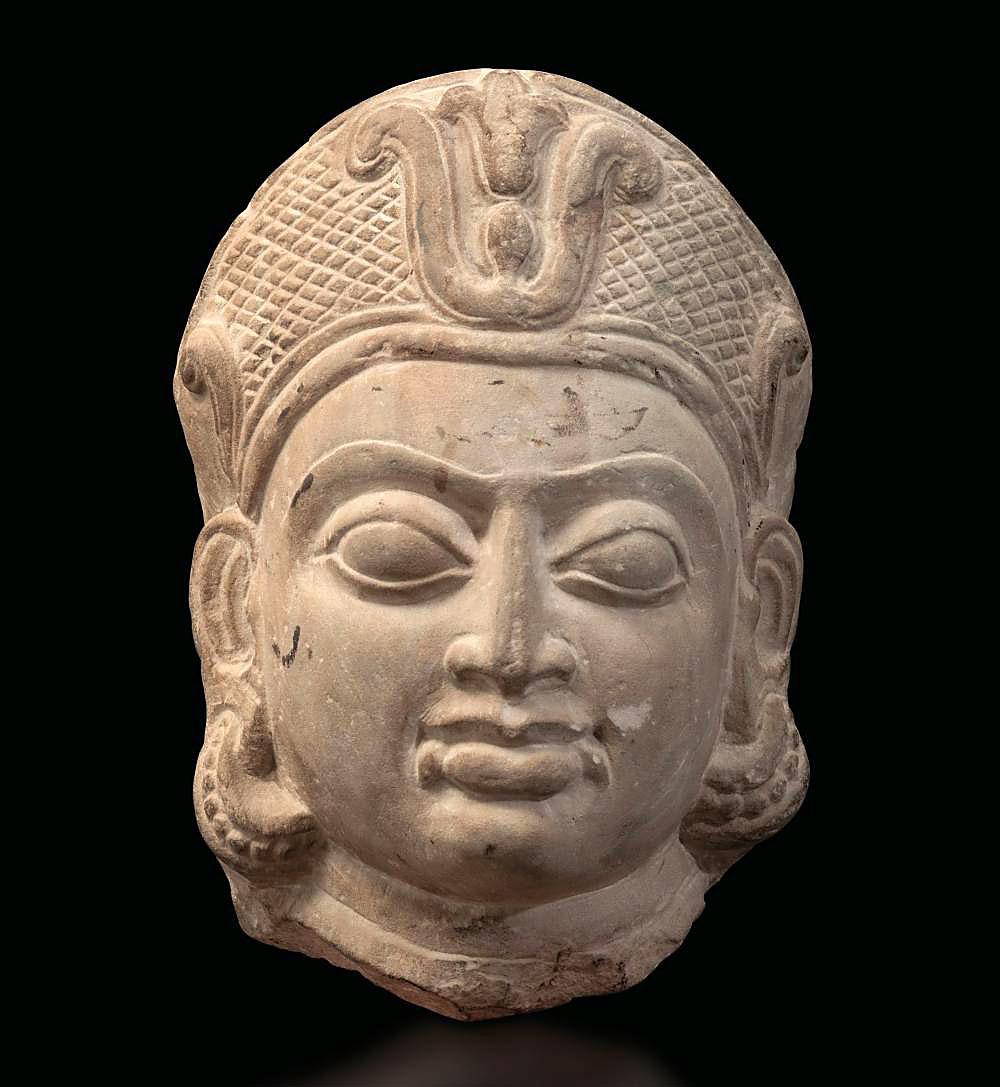 Buff Sandstone Head of a Goddess (1)