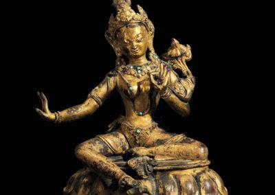Gilt Bronze Padmapani Nepal (1)