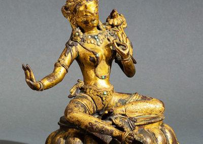 Gilt Bronze Padmapani Nepal (2)