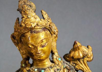 Gilt Bronze Padmapani Nepal (5)