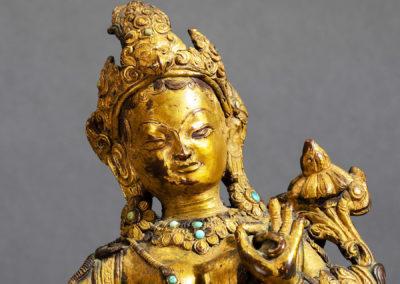 Gilt Bronze Padmapani Nepal (7)