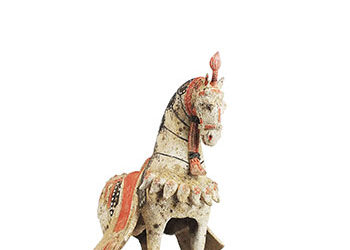 Large Standing Caparisoned Horse