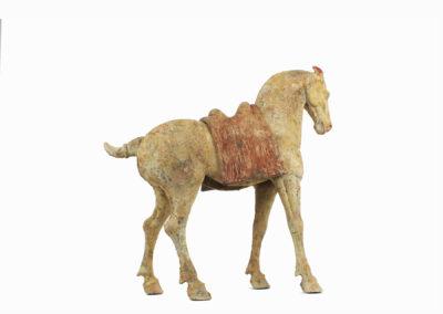 Rare Pottery Striding Horse (11)