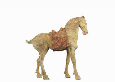 Rare Pottery Striding Horse (12)