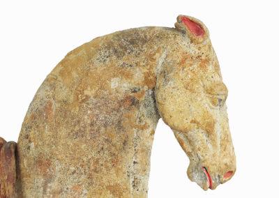 Rare Pottery Striding Horse (17)