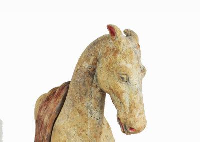 Rare Pottery Striding Horse (18)