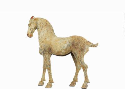 Rare Pottery Striding Horse (3)