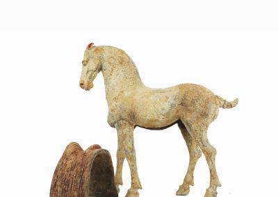 Rare Pottery Striding Horse (4)