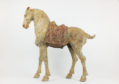 Rare Pottery Striding Horse (7)
