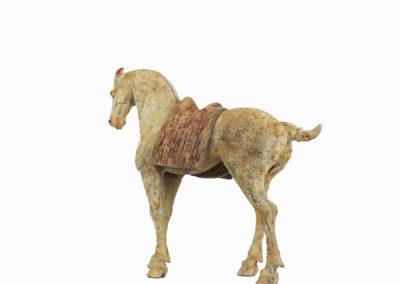 Rare Pottery Striding Horse (8)