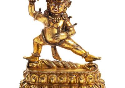 Tibeto Chinese Gilt Bronze Vajraoani (1)