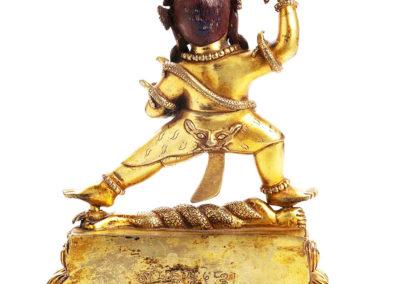 Tibeto Chinese Gilt Bronze Vajraoani (2)