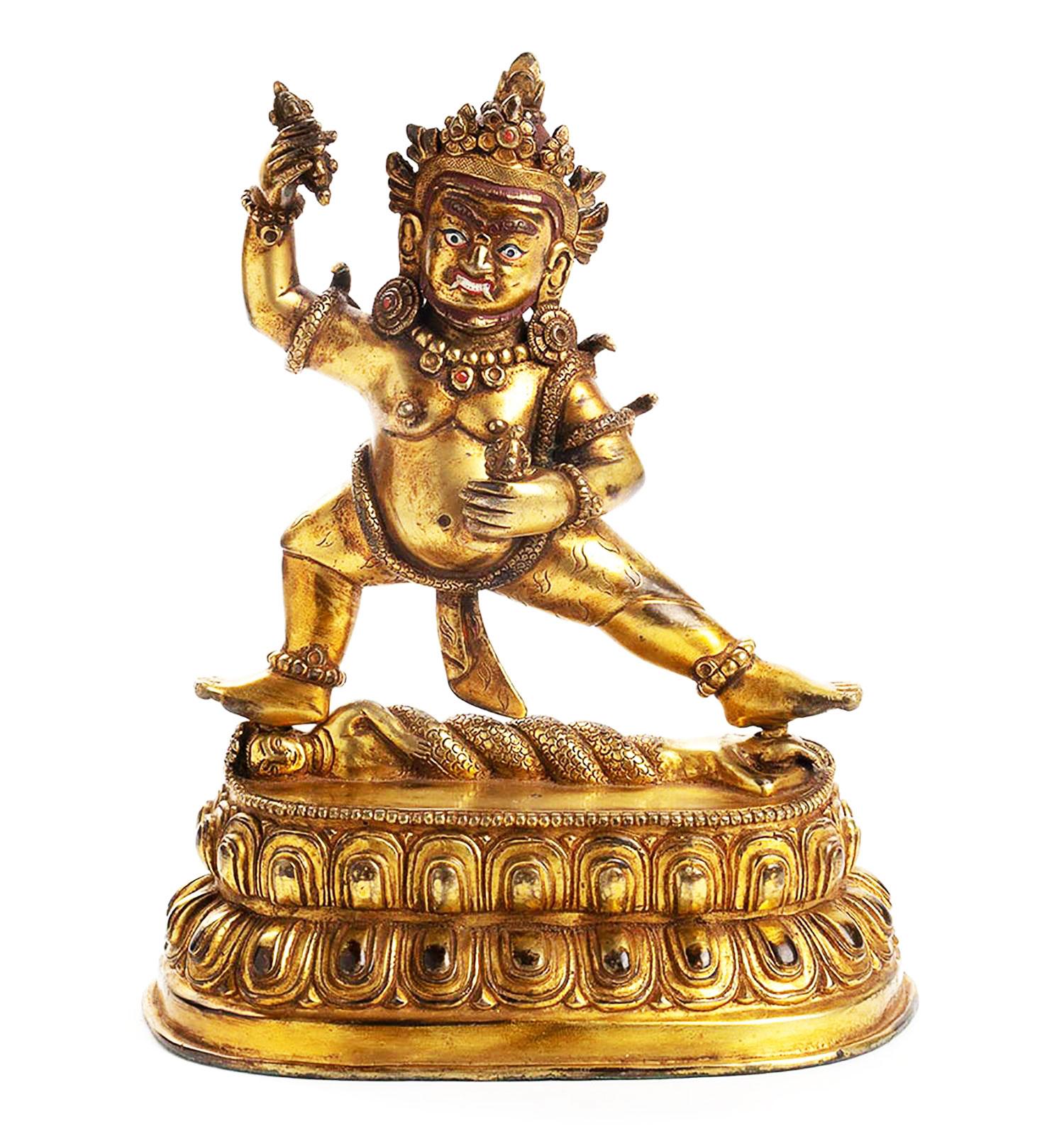 Tibeto Chinese Gilt Bronze Vajraoani (4)