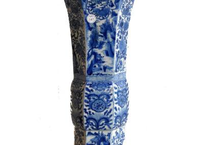 Chinese Kangxi Blue Trumpet Vase (1)