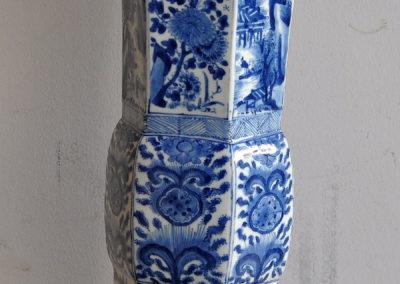 Chinese Kangxi Blue Trumpet Vase (2)