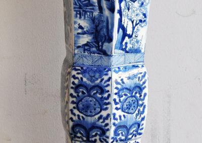 Chinese Kangxi Blue Trumpet Vase (3)