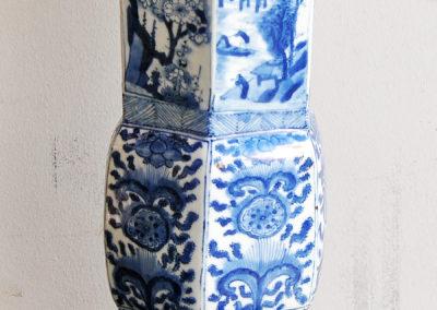 Chinese Kangxi Blue Trumpet Vase (4)