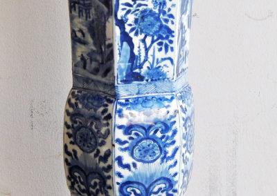 Chinese Kangxi Blue Trumpet Vase (5)