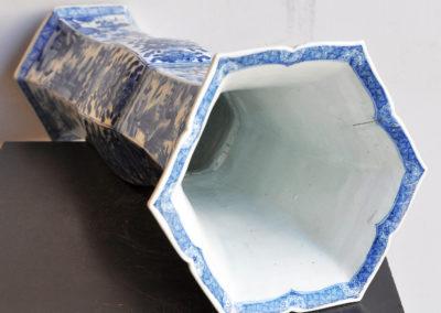 Chinese Kangxi Blue Trumpet Vase (6)